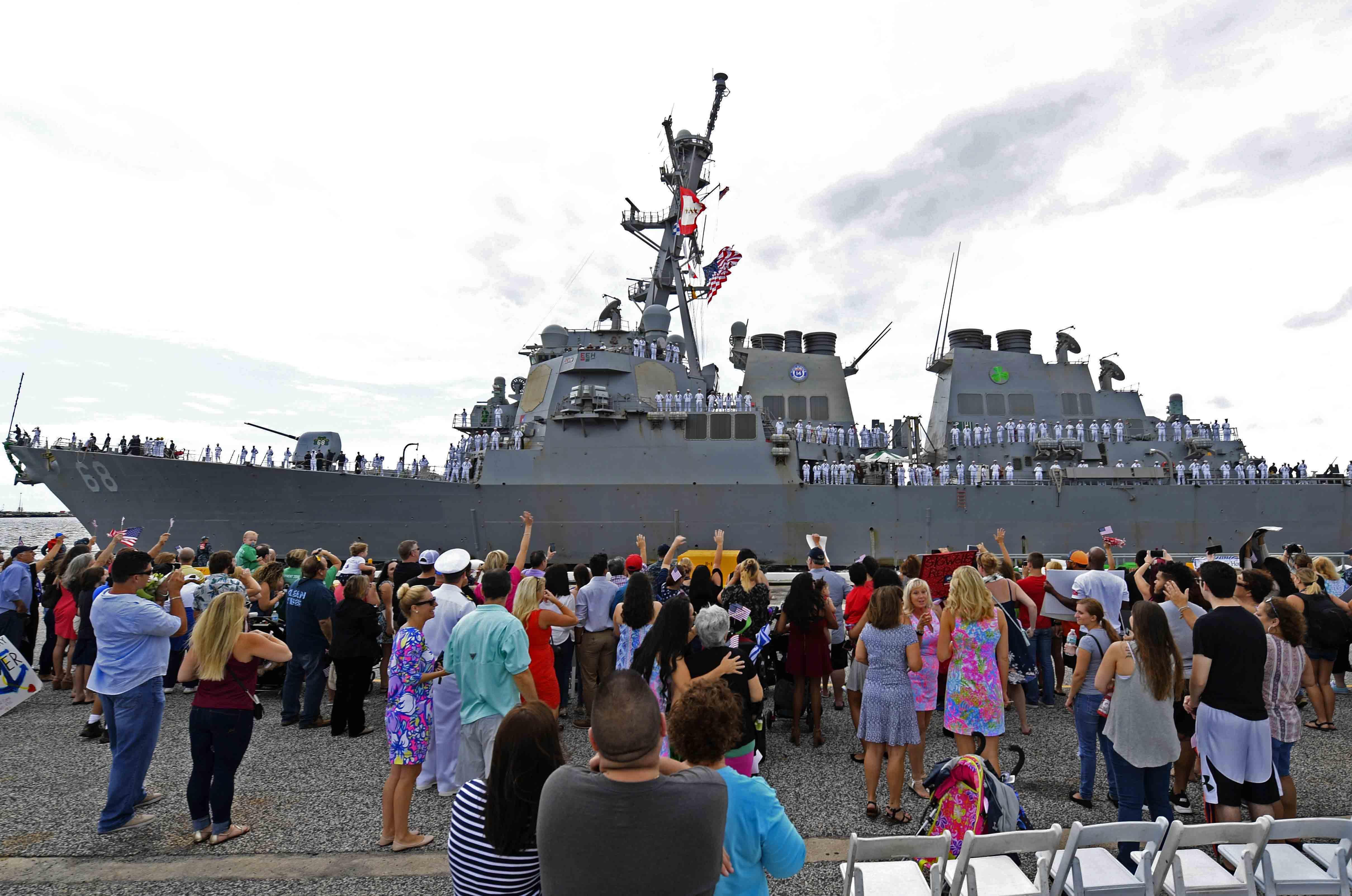 USS THE SULLIVANS DDG-68 Einlaufen Mayport am 04.09.2016 Bild: U.S. Navy