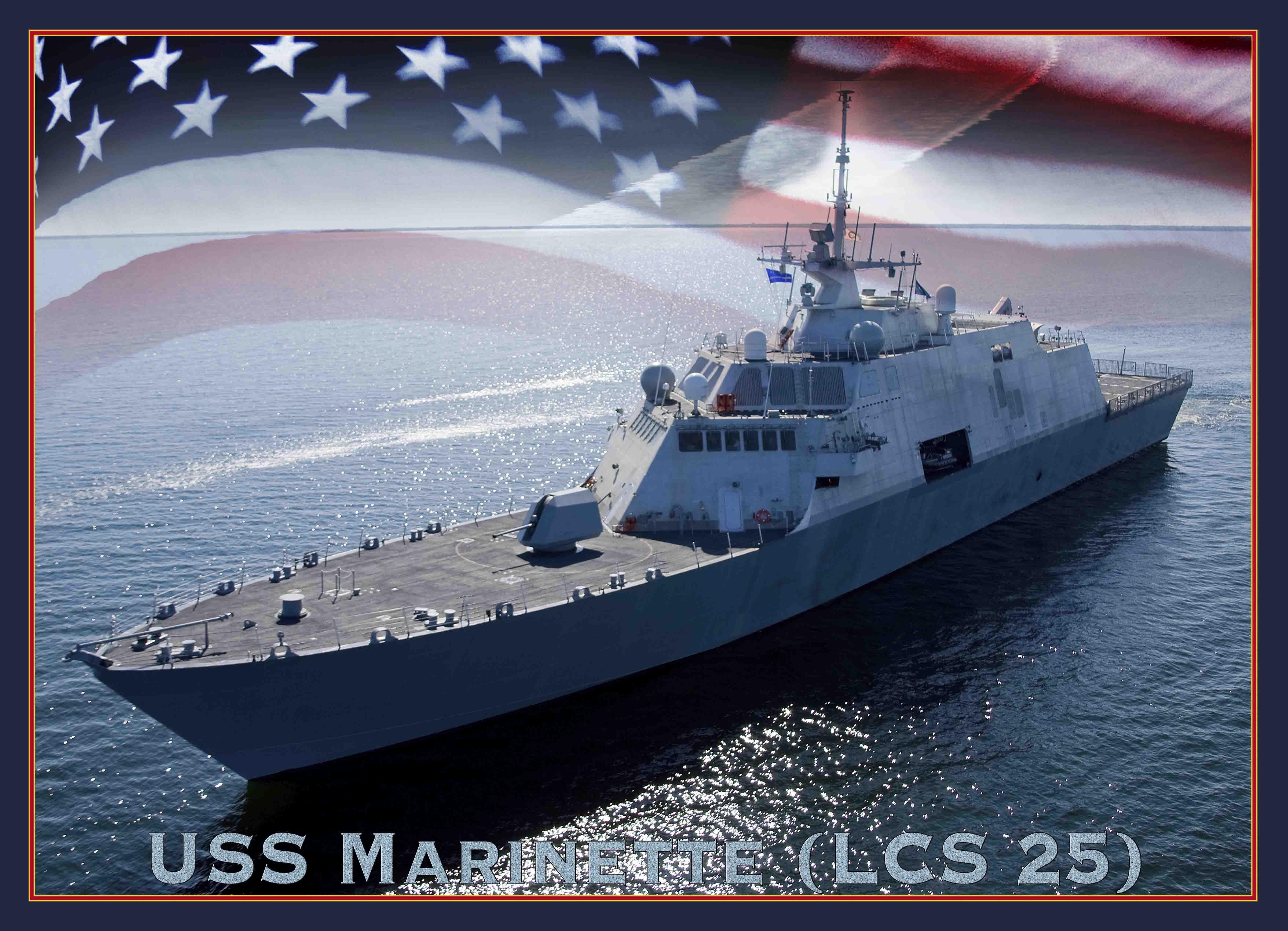 USS MARINETTE LCS-25 Grafik: U.S. Navy