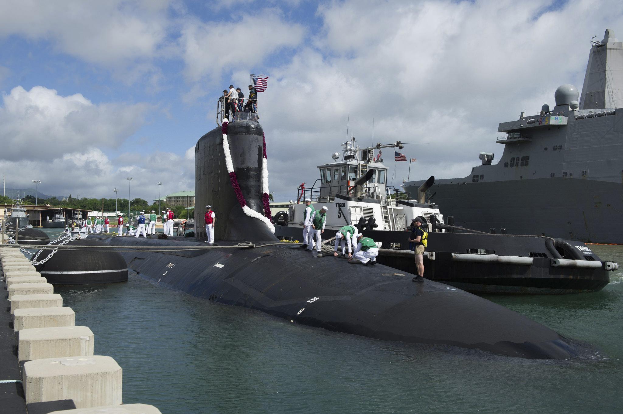 USS MISSISSIPPI SSN-782 Einlaufen Pearl Harbor am 01.09.2016 Bild: U.S. Navy