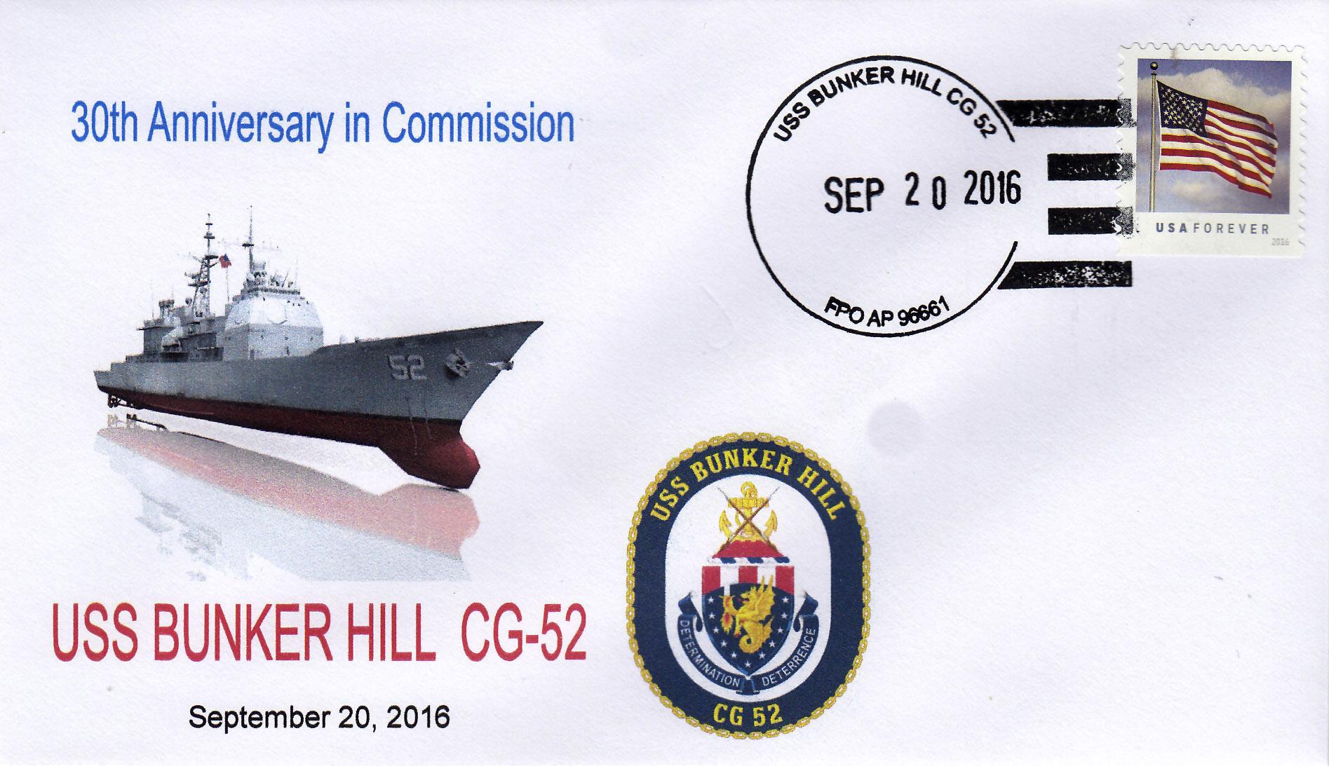 Beleg USS BUNKER HILL CG-52  30 Jahre im Dienst