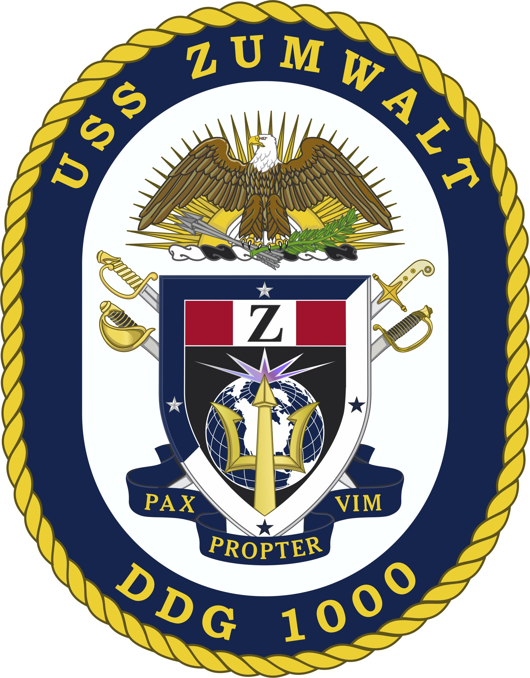 USS ZUMWALT DDG-1000 Crest Grafik: U:S. Navy