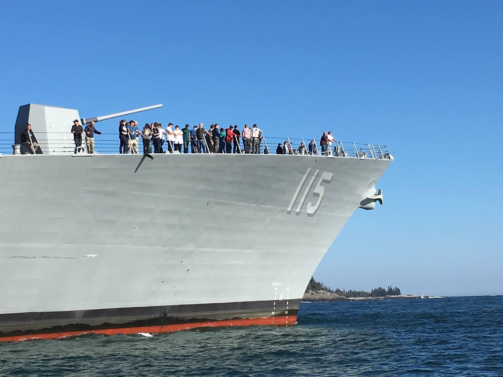USS RADAEL PERALTA DDG-115 Erste See-Erprobung Bild: Bath Iron Works