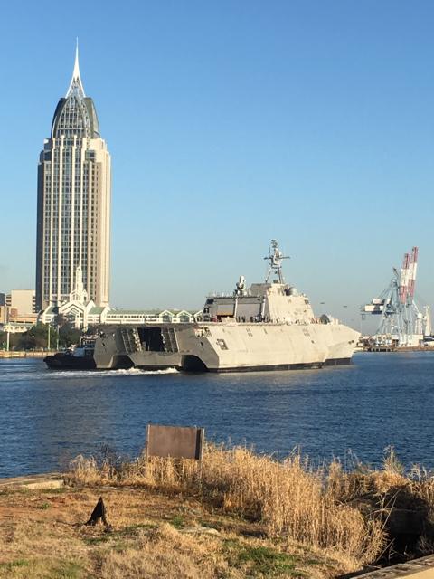 USS GABRIELLE GIFFORDS LCS-10 Rückkehr See-Erprobung Bild: Austal USA