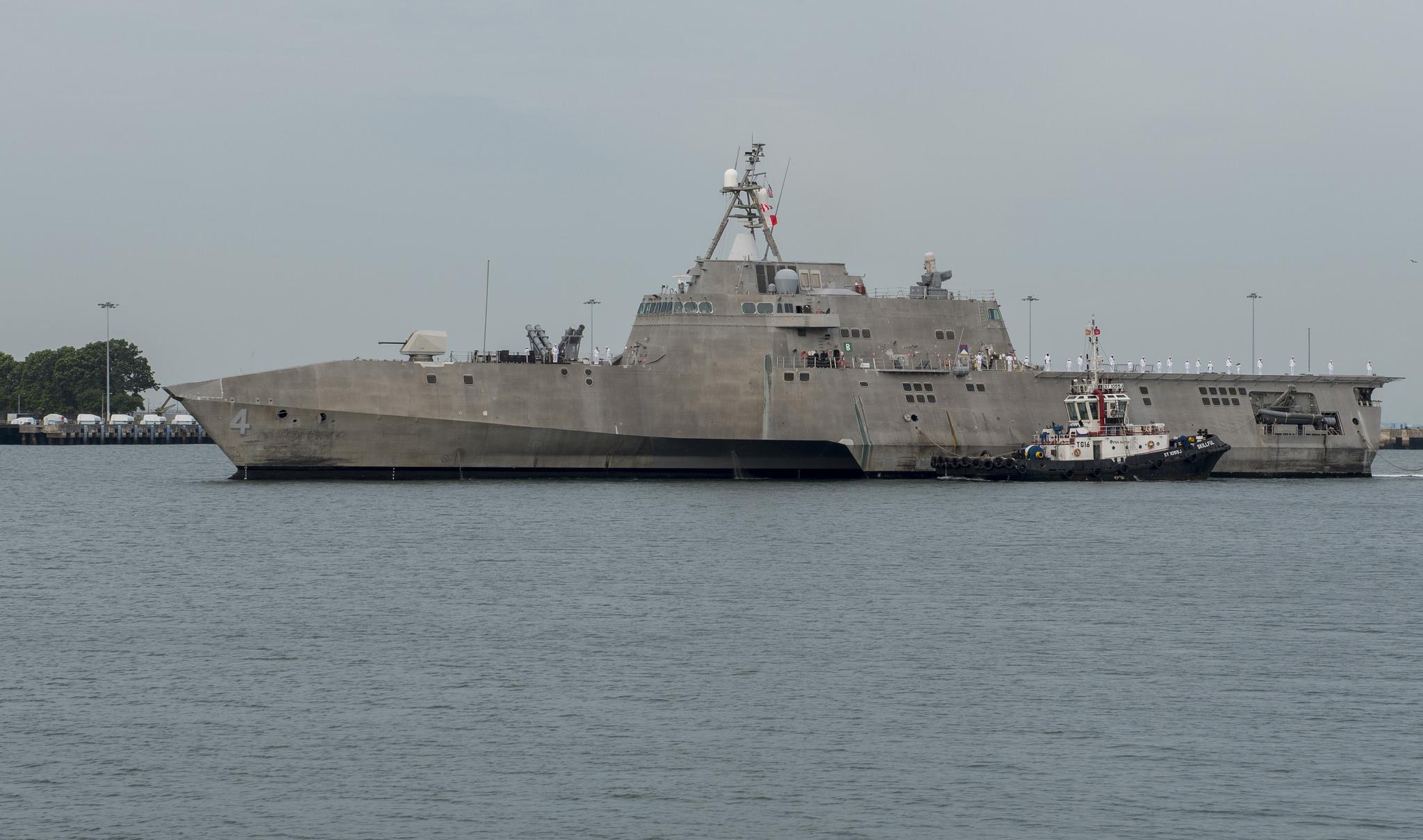 USS CORONADO LCS-4 Einlaufen Singapur am 16.10.2016 Bild: U.S. Navy