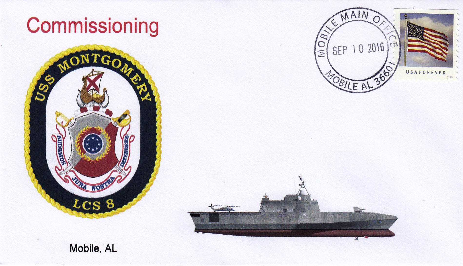 Beleg USS MONTGOMERY LCS-8 Indienststellung