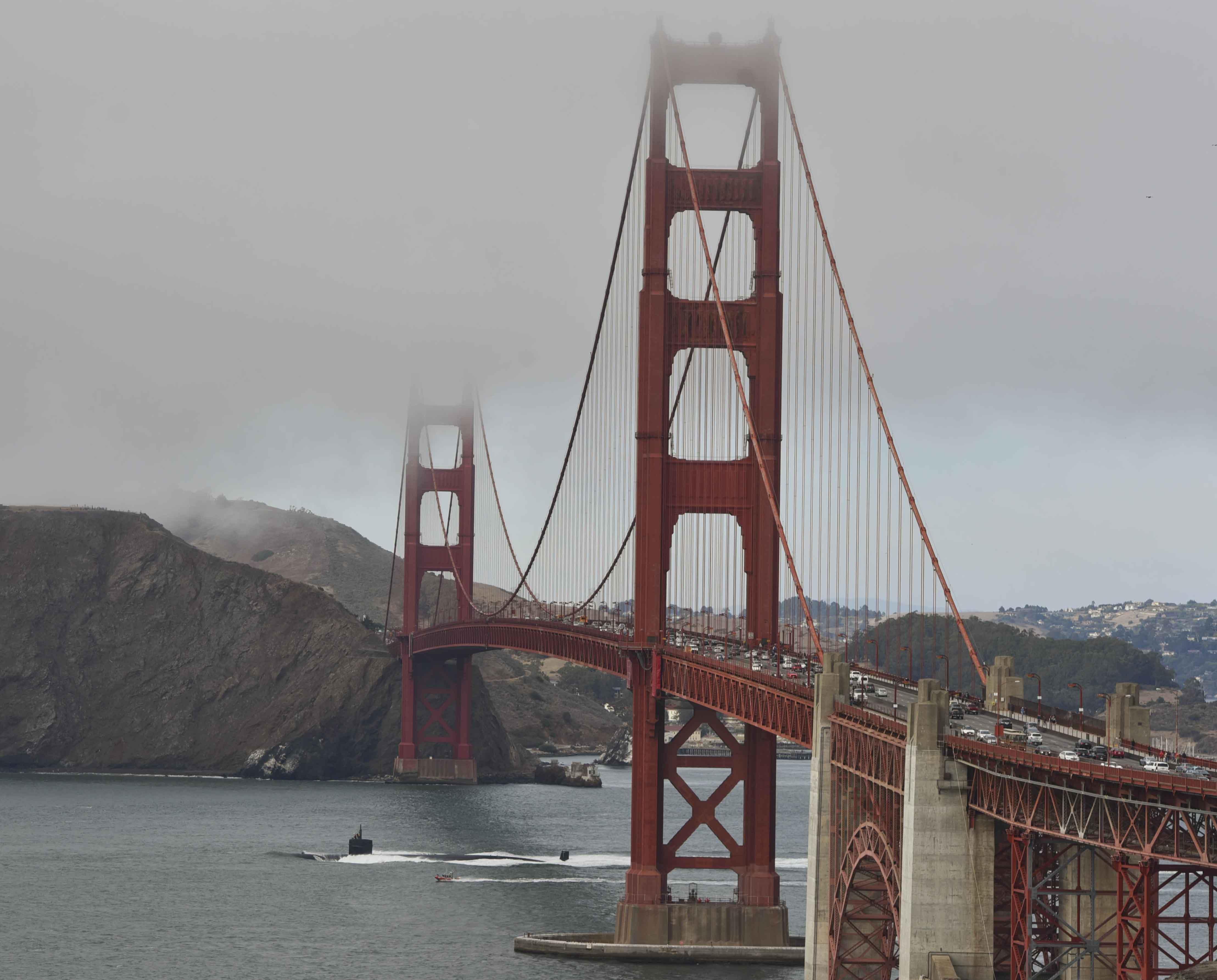 USS SAN FRANCISCO SSN-711 Auslaufen San Francisco am 12.10.2016 Bild: U.S. Navy