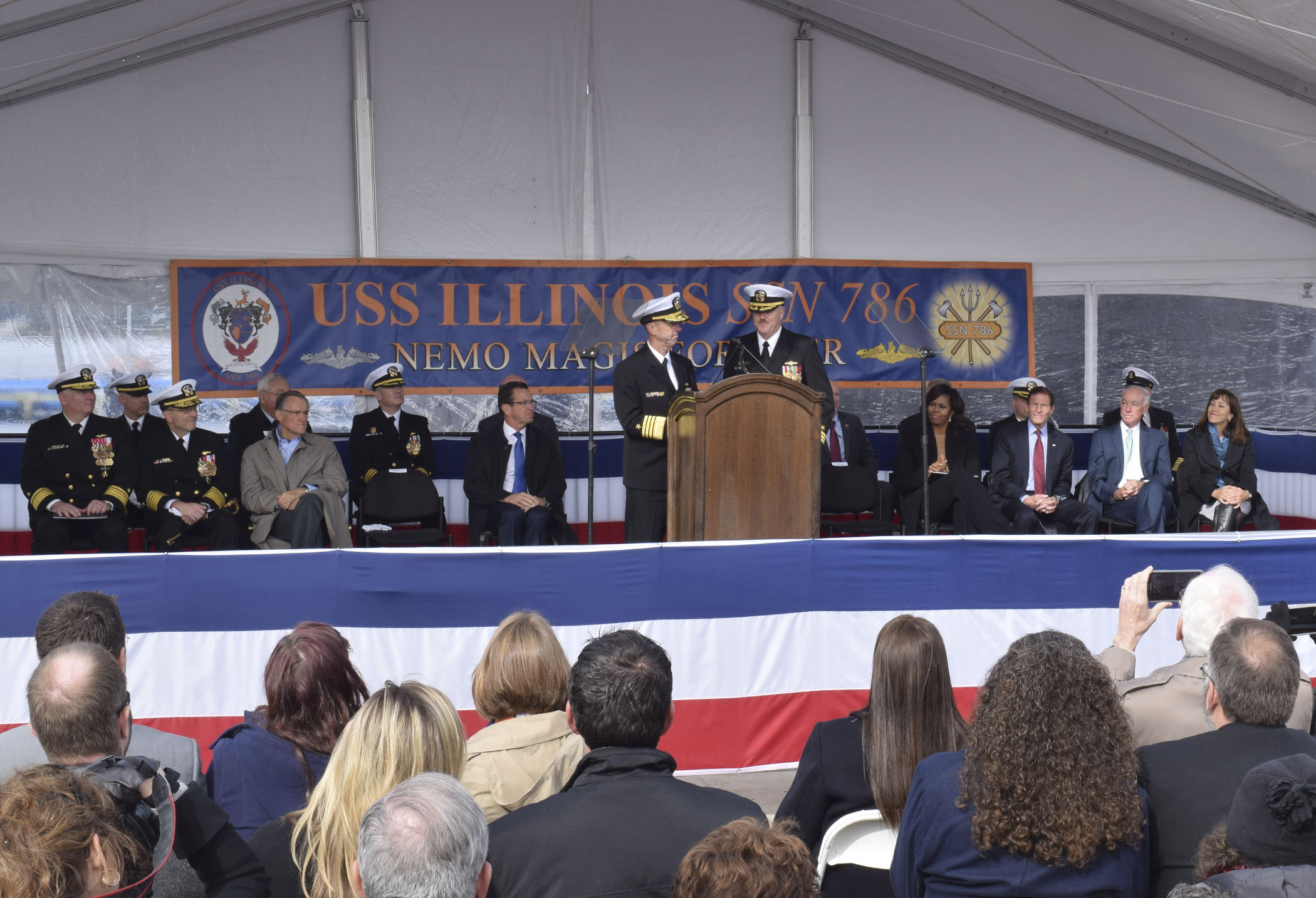 USS ILLINOIS SSN-786 Commissioning Ceremony Bild: U.S. Navy
