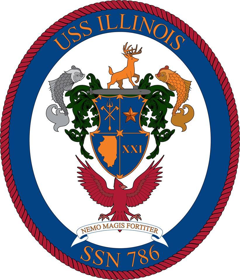 USS ILLINOIS SSN-786 Crest Grafik: U.S. Navy