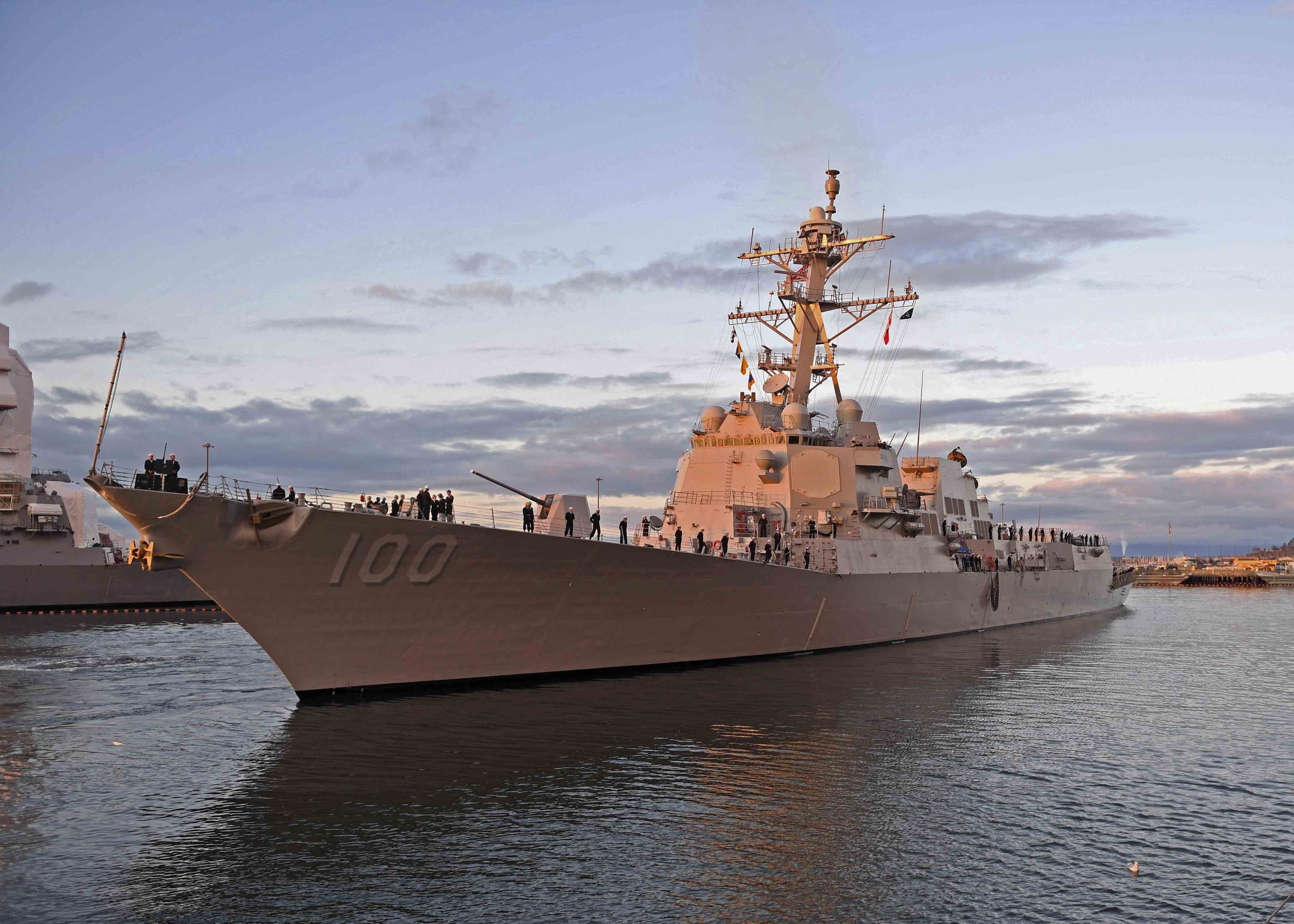 USS KIDD DDG-100 Einlaufen Everett am 21.11.2016 Bild: U.S. Navy