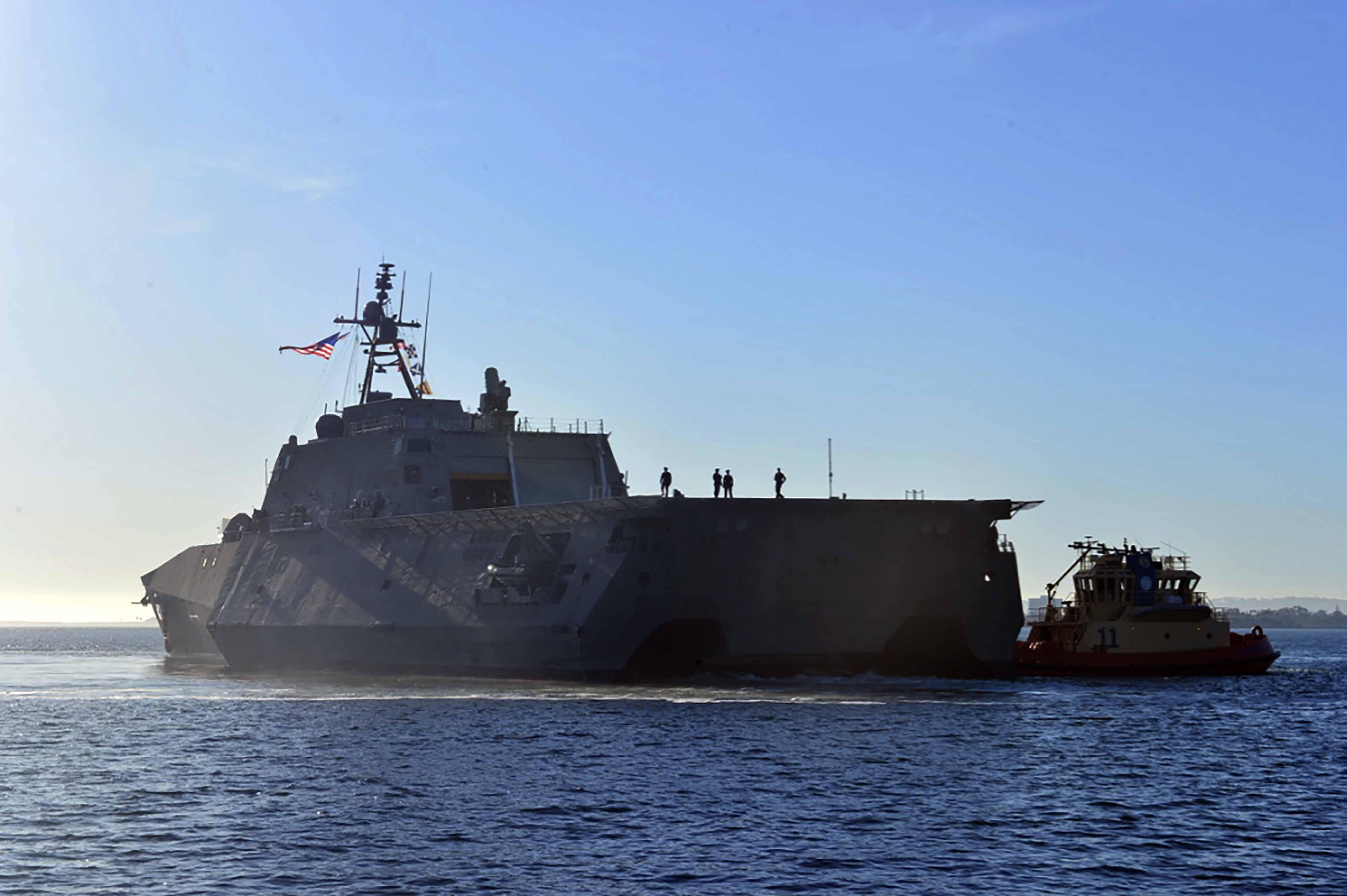 USS MONTGOMERY LCS-8 Einlaufen San Diego am 08.11.2016 Bild: U.S. Navy