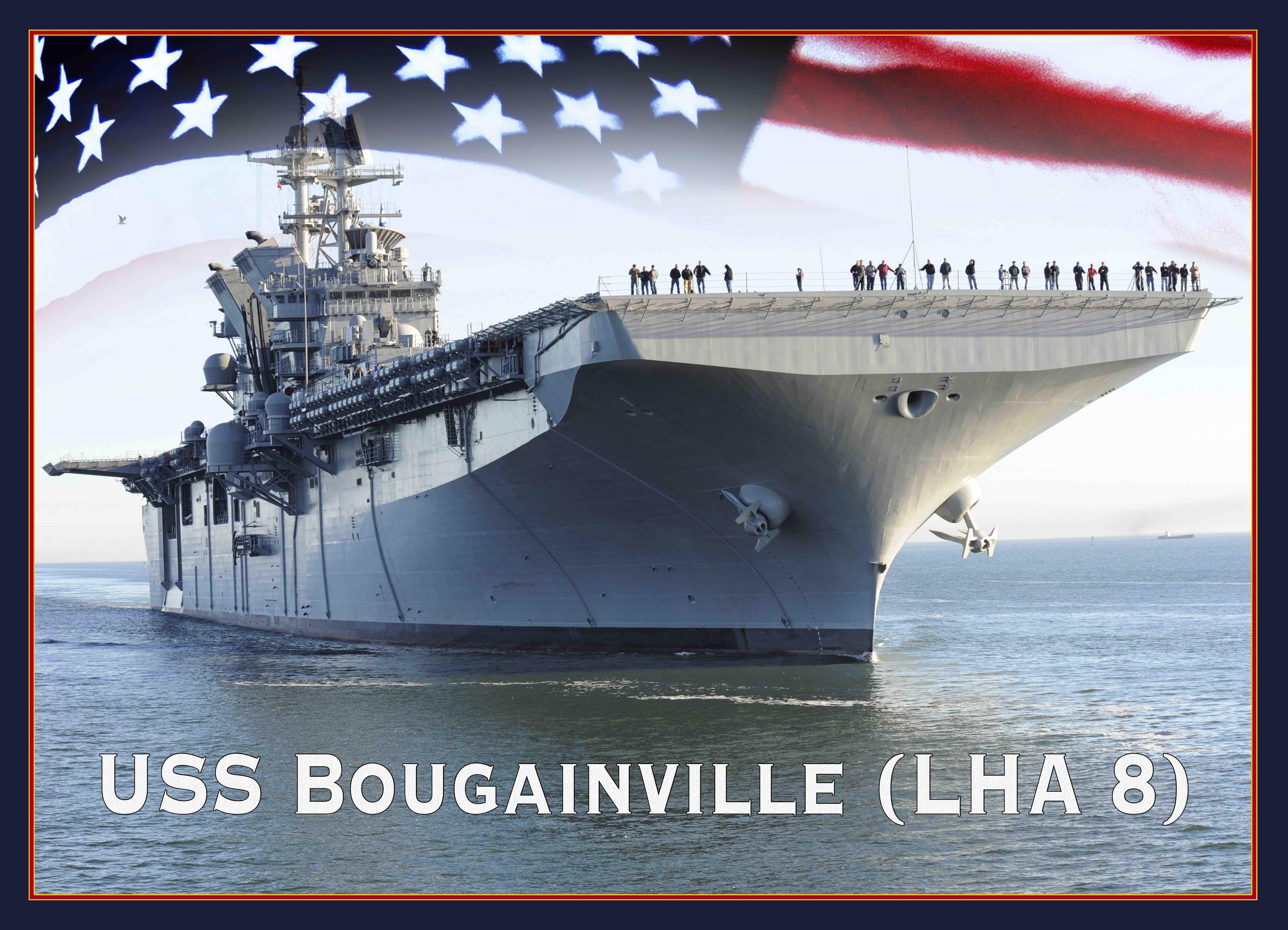 USS BOUGAINVILLE LHA-8 Grafik: U.S. Navy