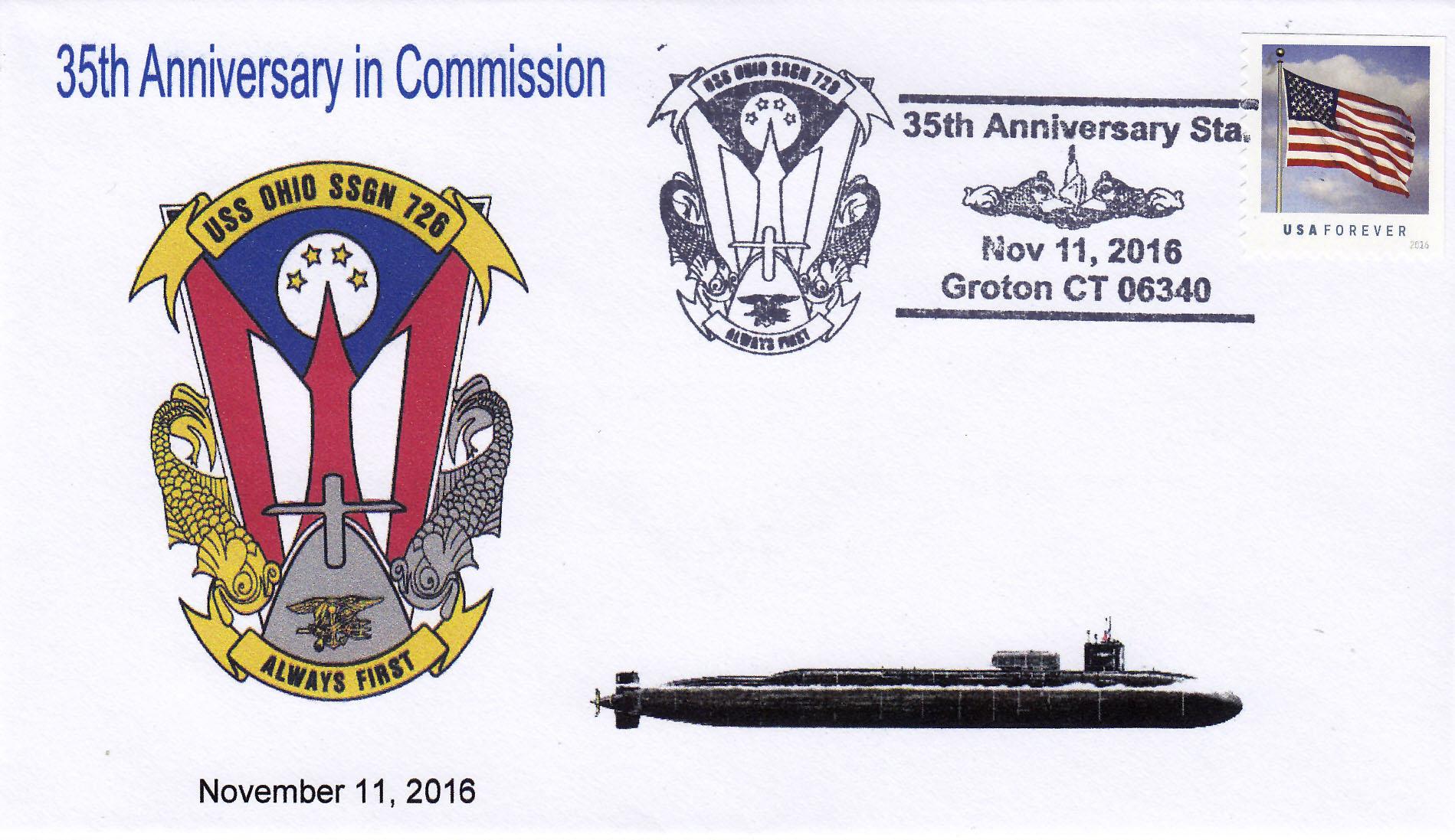 Beleg USS OHIO SSGN-726  35 Jahre im Dienst
