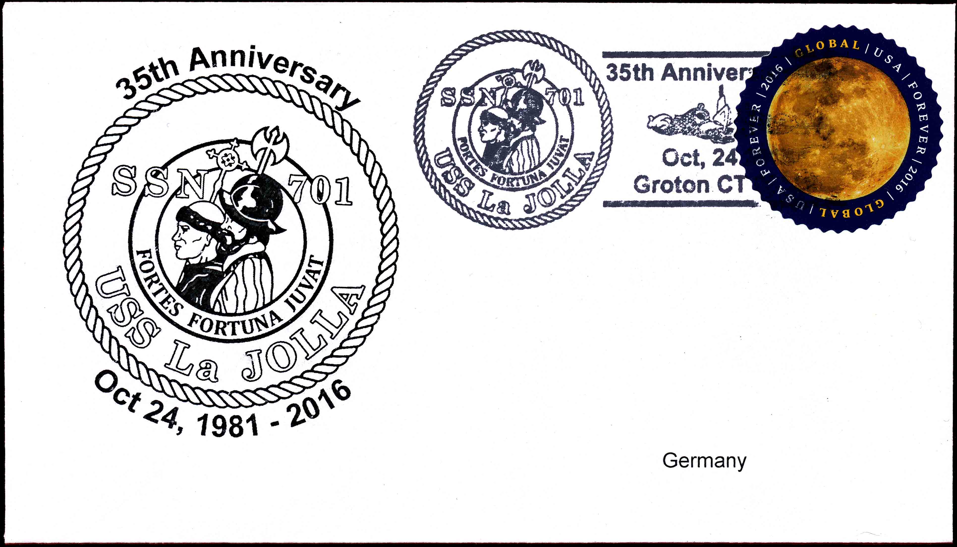 Beleg USS LA JOLLA SSN-701 35 Jahre im Dienst Beleg: Wolfgang Hechler