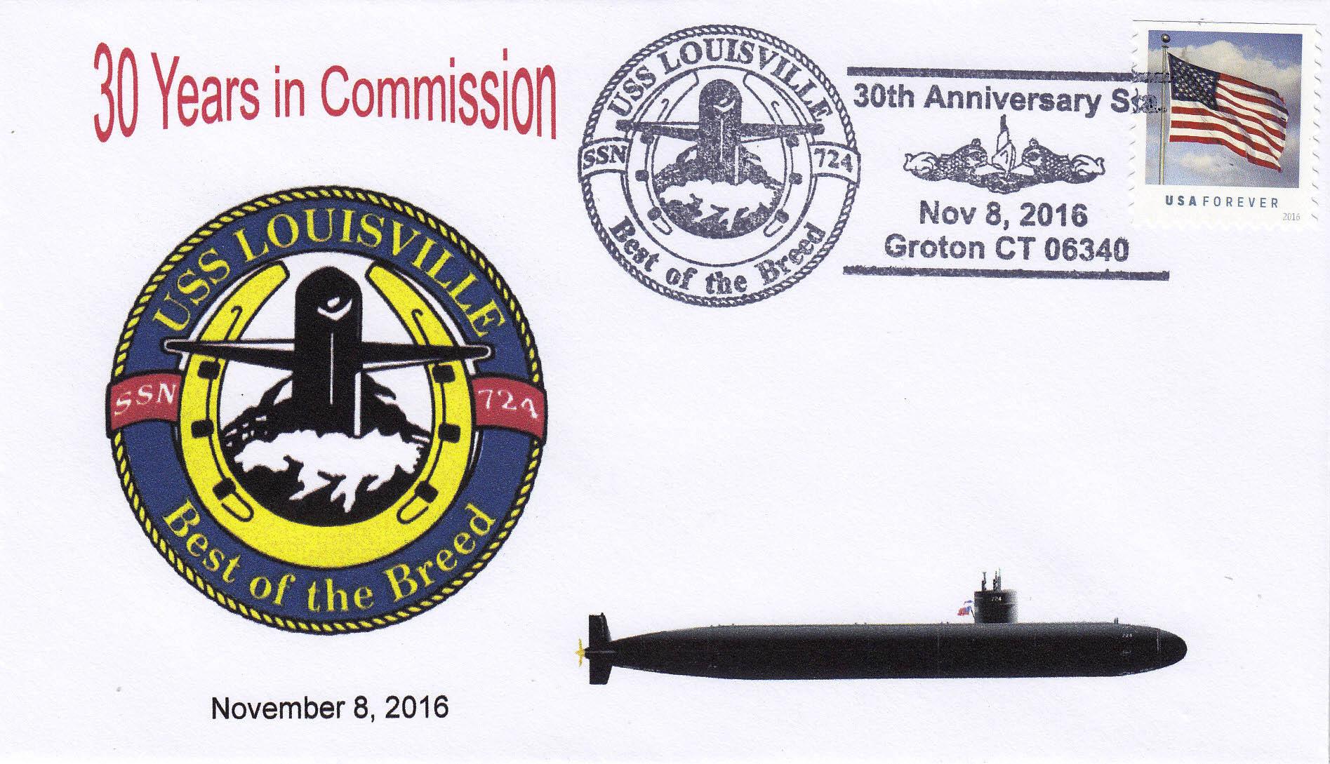 Beleg USS LOUISVILLE SSN-724  30 Jahre im Dienst