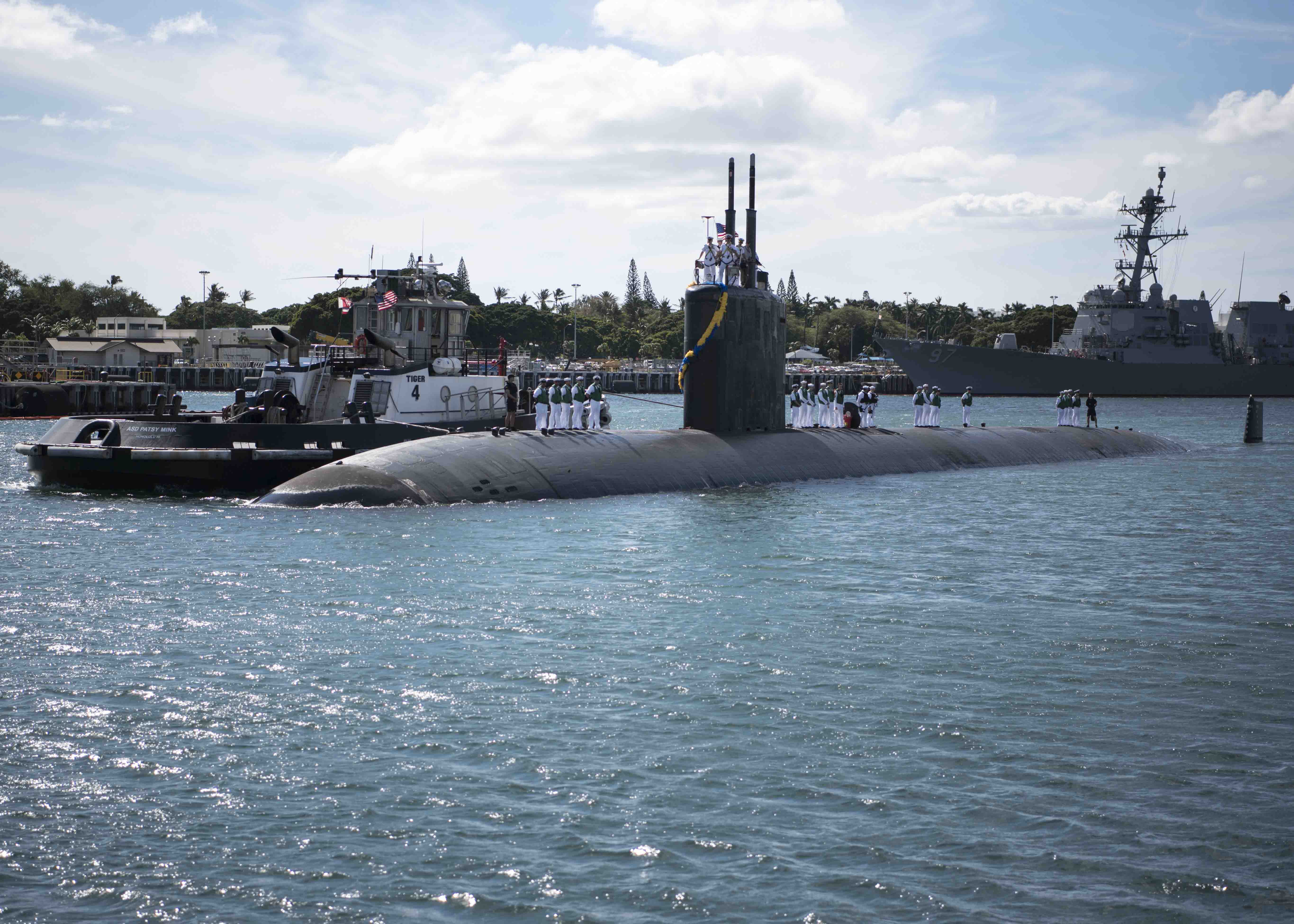 USS COLUMBIA SSN-771 Einlaufen Pearl Harbor am 18.11.2016 Bild: U.S. Navy