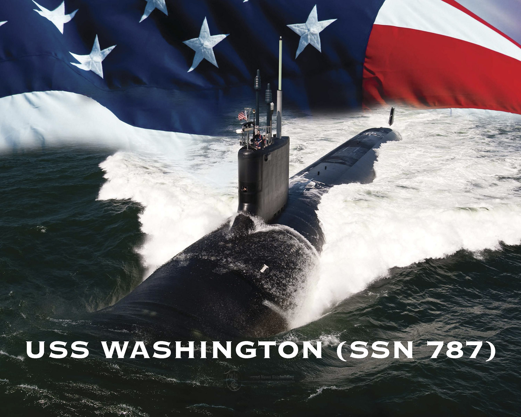 USS WASHINGTON SSN-787 Grafik: U.S. Navy
