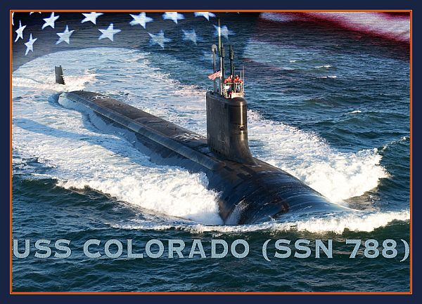 USS COLORADO SSN-788  Grafik: U.S. Navy