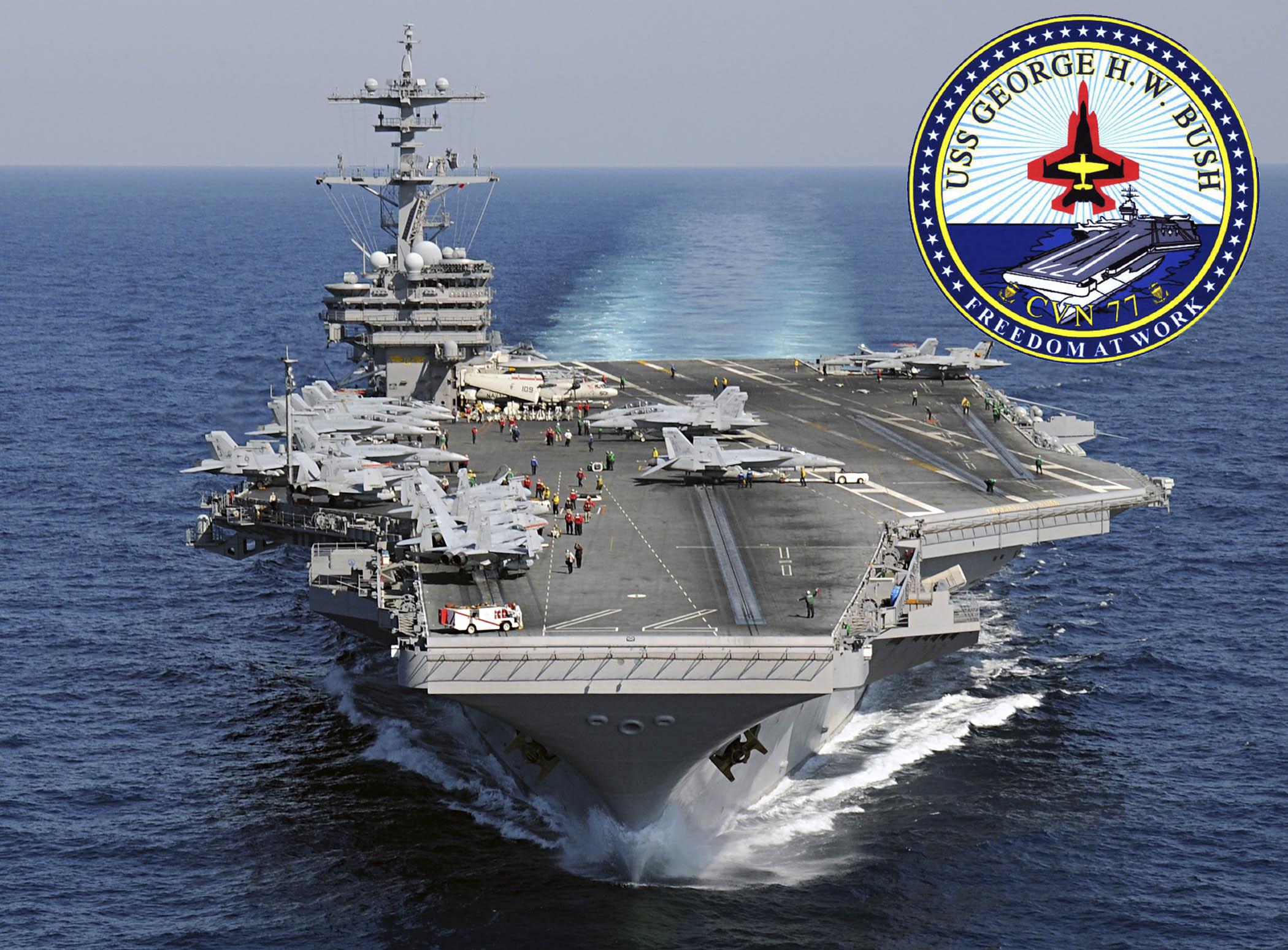 USS GEORGE H.W. BUSH CVN-77 Bild und Grafik: U.S. Navy