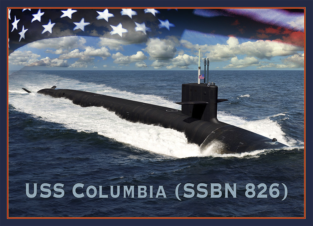 USS COLUMBIA SSBN-826 Grafik: U.S. Navy