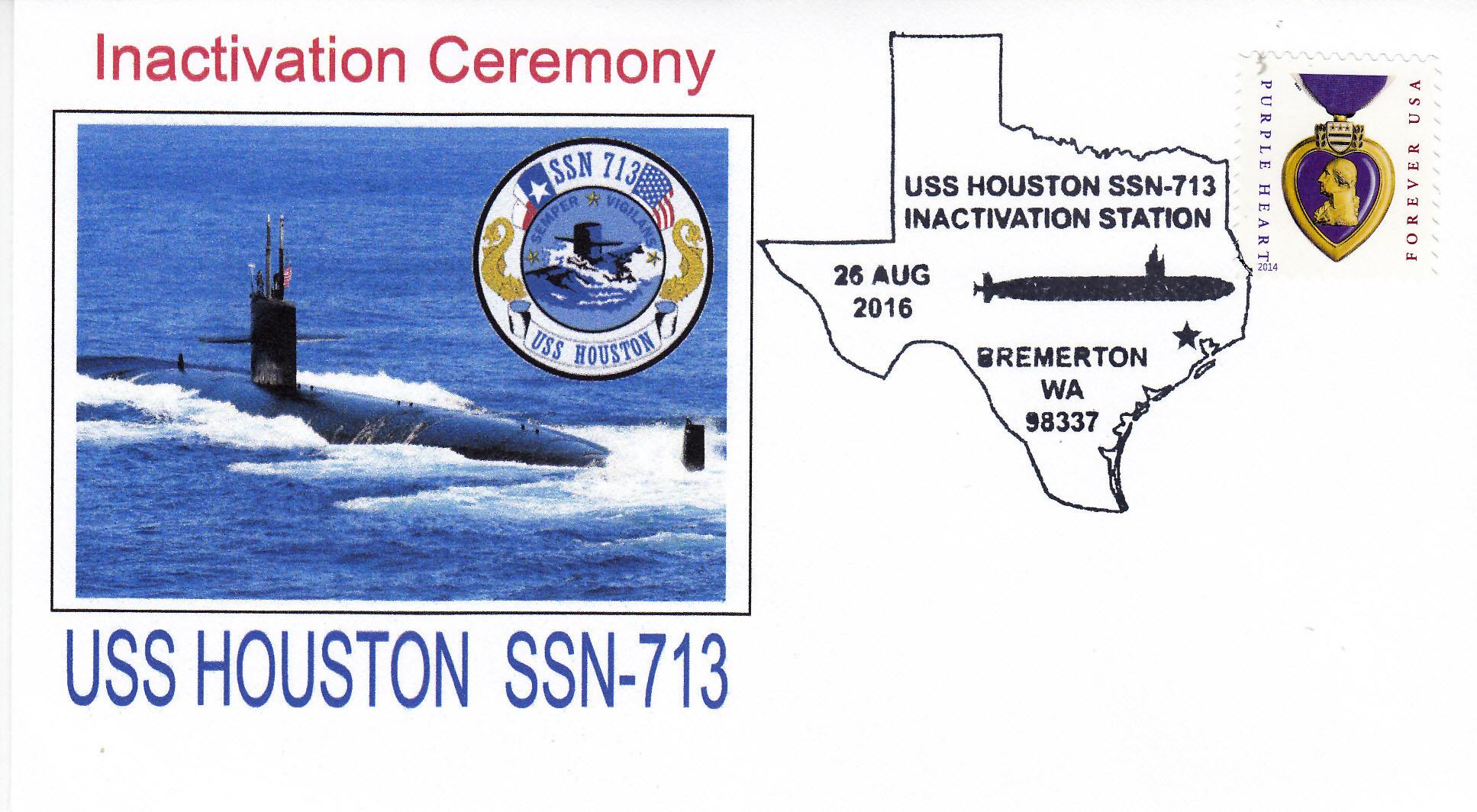Beleg USS HOUSTON SSN-713 Inaktivierung
