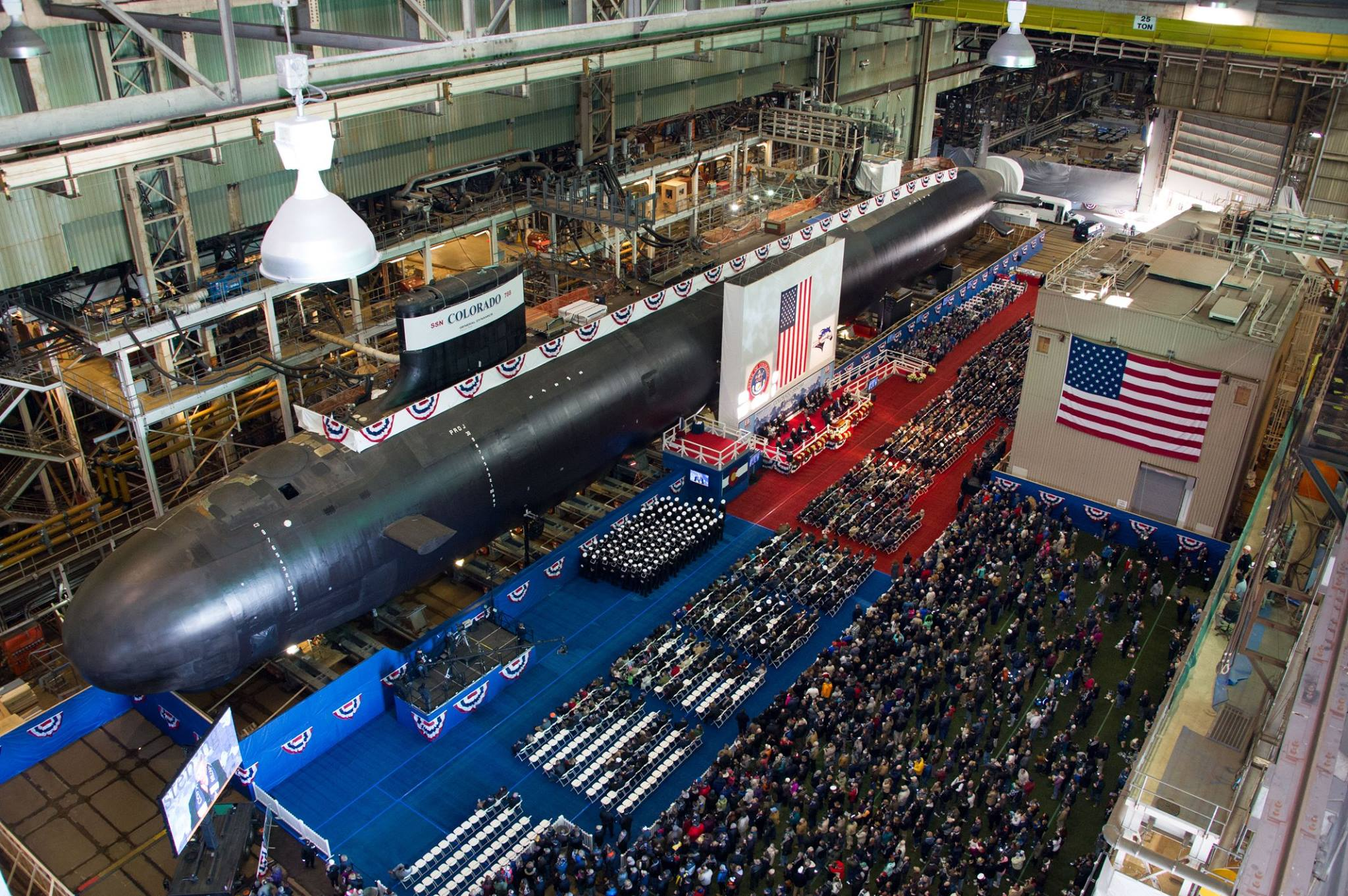 USS COLORADO SSN-788 Christening Bild: U.S. Navy