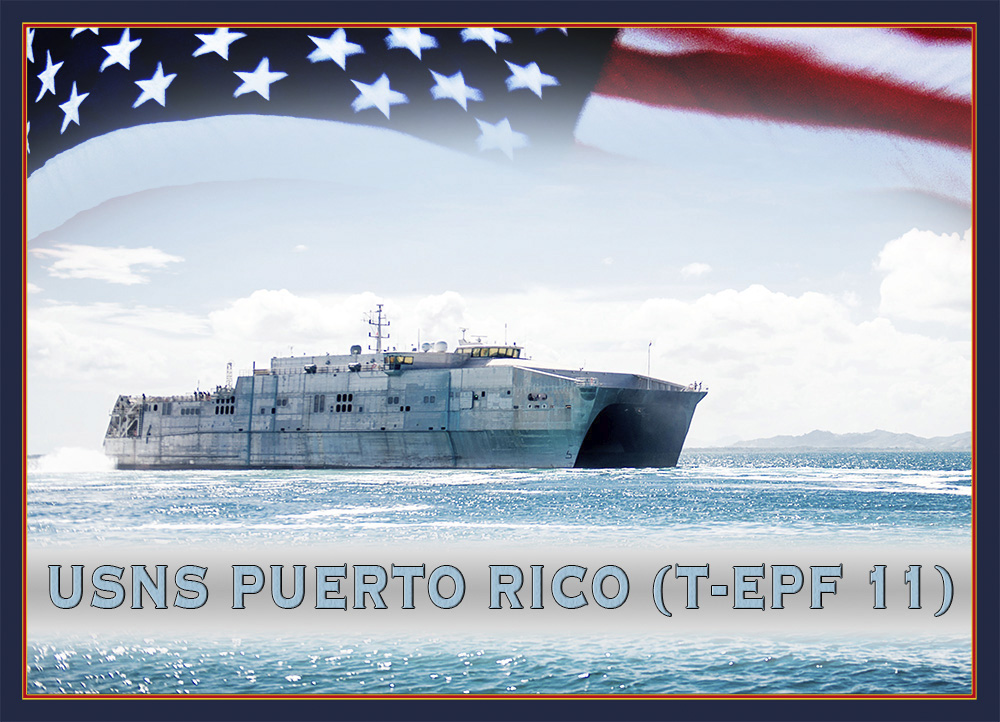 USNS PUERTO RICO T-EPF 11 Grafik: U.S. Navy